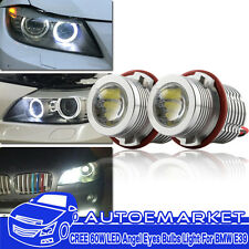 160W Angel Eyes Error Free LED Halo Ring Light Bulbs For BMW E39 E53 E60 E63 USA