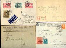 UNGARN LOT MIT 4 BRIEFEN VOR 1945 Zensur Luftpost cover schön frankiert Vignette