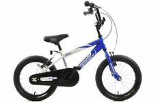 "Ammaco Rocky Boys 16"" Wheel BMX Bike Blue & White Bicycle Age 5+"