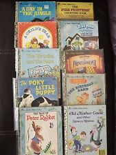 10 Favorites Golden Books Lot:Day in Jungle, Fire Fighters Count, Child +7 more