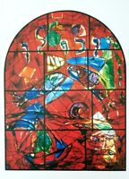 "Marc Chagall Jerusalem Windows + Lithograph of  ""Zebulom"" + After the Vitral"