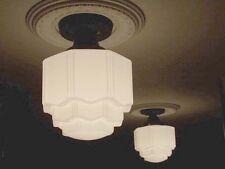 806 VINTAGE 30s 40s Ceiling Light Lamp KITCHEN BATH PORCH (WEDDINGCAKE) 1 or 6