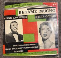 USED 45 RPM RECORD: Steve Lawrence & Eydie Gorme - Besame Mucho