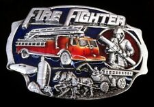 FIREFIGHTER FIREMAN CARS TRUCKS BELT BUCKLE BOUCLE DE CEINTURE POMPIER