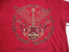 HARD ROCK CAFE Niagara Falls New York Guitar Red T Shirt Men's Size M