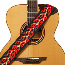 Amumu Red Flame Woven Guitar Strap for Acoustic/Electric Bass Guitars J2509