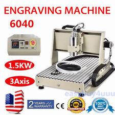 3 Axis 6040 CNC Router Engraver 1.5KW Desktop Engraving Drilling Milling Machine