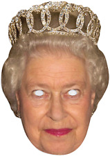 Adults Queen Elizabeth Royal Wedding British Fancy Dress Costume Outfit Mask