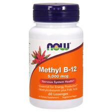 Vitamin B-12, MethylCobalamin, 5000mcg x  60VLoz - NOW Foods B12