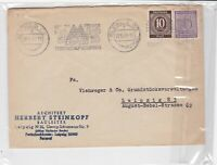 German 1946 Leipzig Houses machine cancel Architect Ad Stamps Cover ref R17225