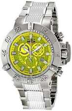 New Mens Invicta 6689 Subaqua Chronograph Yellow Dial Stainless Steel Watch