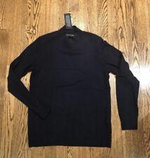 Banana Republic Navy Mock Neck Wool Blend Long Sleeve Sweater, NWT, Size Medium