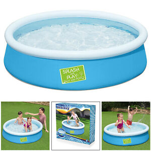 Bestway Kids My First Fast Set Childrens 5ft Round Inflatable Paddling Pool