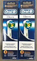 New 6x BRAUN ORAL B 3D WHITE TOOTHBRUSH REPLACEMENT BRUSH HEADS REFILL