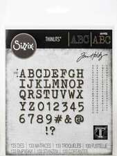Sizzix Thinlits Dies By Tim Holtz Alphanumeric Tiny Type Upper 630454260929