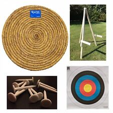 Egertec 85CM Straw Target Package. Target, Stand, Faces, Pins & Free Delivery.