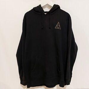 HUF Gold Triple Triangle Hoodie Sweatshirt Jumper Mens XL
