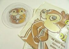 Chip & Dale Clear Plate Tray Mat New Japan Disney 1 Set 2Pcs