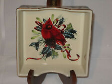 Lenox Winter Greetings Napkin Holder - Perfect Condition - Red Cardinal