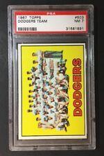 Topps 1967 Dodgers Team #503 PSA 7