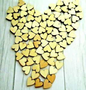 100X Mini Small Rustic Wooden Love Heart Wedding Table Decoration Scatter 10 MM