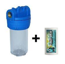 """Filtergehäuse 5 Zoll 1"""" GW + VORFILTER PATRONE Brunnen Filter Pumpe Wasserfilter"""