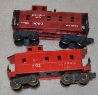 Lionel Train - Brown 9060 Nickel Plate Road Caboose 027 Gauge + 6257 Caboose