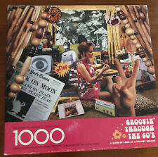 SPRINGBOK 1000 Piece JIGSAW PUZZLE GROOVIN' THROUGH THE 60'S FREE SH Vintage
