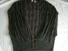 Anthropologie Moth Shaded Rays Wrap Cardigan Vest Drape S Small