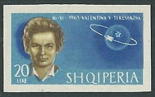 1963 ALBANIA SPAZIO TERESHKOVA 20 L NON DENTELLATO MNH ** - VA45-2