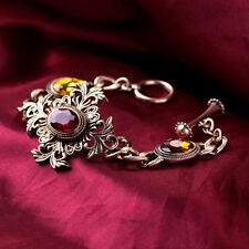 Bracelet Rouge Ambré Art Deco Retro Ancien Vintage Class Mariage Original CT2