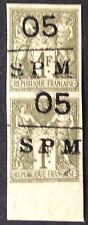 Timbre Saint Pierre, n°11, 1c vert neuf ** TB variété  et qualité
