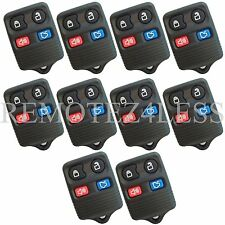 Lot of 10 New 4 Button Replacement Keyless Entry Remote Key Car Fob for Ford