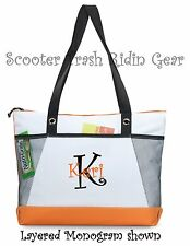 Personalized Tote bag book monogrammed ORANGE NEW diaper teacher nurse anchor