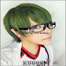 Kuroko's Basketball Midorima Shintaro green Cosplay wig Costume Anime party hair