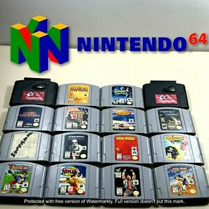 Nintendo 64 N64 - Original Video Game Cartridges - Lot of 16 You Pick! *TESTED*