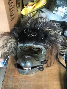 Vintage Old Hand Carved Wood Wall Hanging Decorative Mask