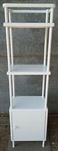 IKEA Metal Bathroom Cabinet / Shelving / Three (3) Tier - White