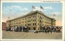 Bay City MI Hotel Wenonah c1920 Postcard