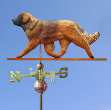 Leonberger Hand Carved Hand Painted Basswood Dog Weathervane