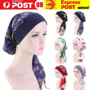 Womens Muslim Hijab Cancer Chemo Hat Turban Hair Loss Head Wrap Scarf Bandana