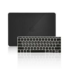 "2 IN 1 BLACK Crystal Case for Macbook 12"" Retina Model A1534 + Keyboard Cover"