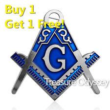 Freemasonry Blue Lodge Master Mason Auto Car Emblem Masonic Metal Craft Sticker