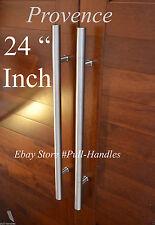 "24"" Door Hardware satin nickel Pull Handles Bar Pulls Entry Store front"