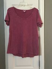 NWT Lularoe Classic T Tee Top Shirt S Small Acid Wash Mineral DIstressed