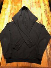 ADD Sweatshirt in Black - Amazing Sleeve Ties on Hood - UNIQUE & RARE - Men's XL
