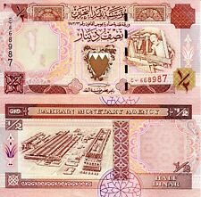 BAHRAIN ½ Dinar Banknote World Paper Money UNC Currency Pick p18b 1998 Bill Note