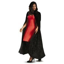 NEW SEXY ADULT WOMAN CAPE - PRETTY LITTLE LIARS RED RIDING HOOD RED BLACK SILVER