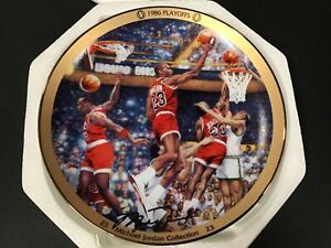 "UPPER DECK MICHAEL JORDAN ""1986 PLAYOFFS"" LIMITED EDITION 8"" PLATE WITH COA"