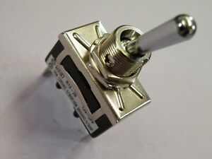 High Current Toggle Switch 10A 250v 20A 12v SPST on-off Chrome Dolly 26g 908